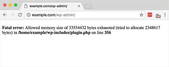 خطای میزان حافظه php در وردپرس